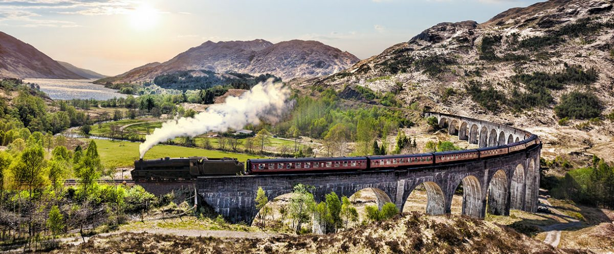 train on viaducts