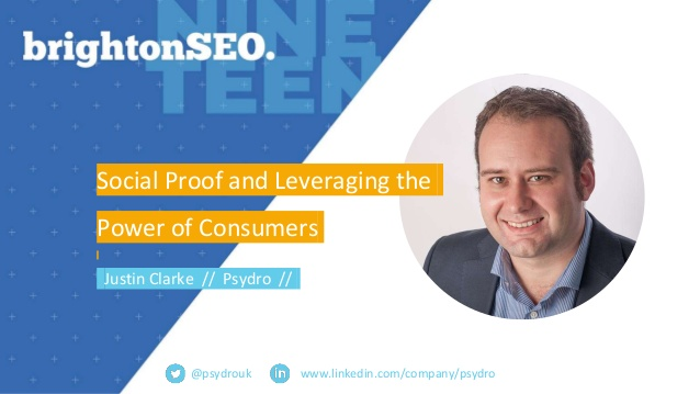 Brighton SEO – Social Proof and Leveraging the Power of Consumers